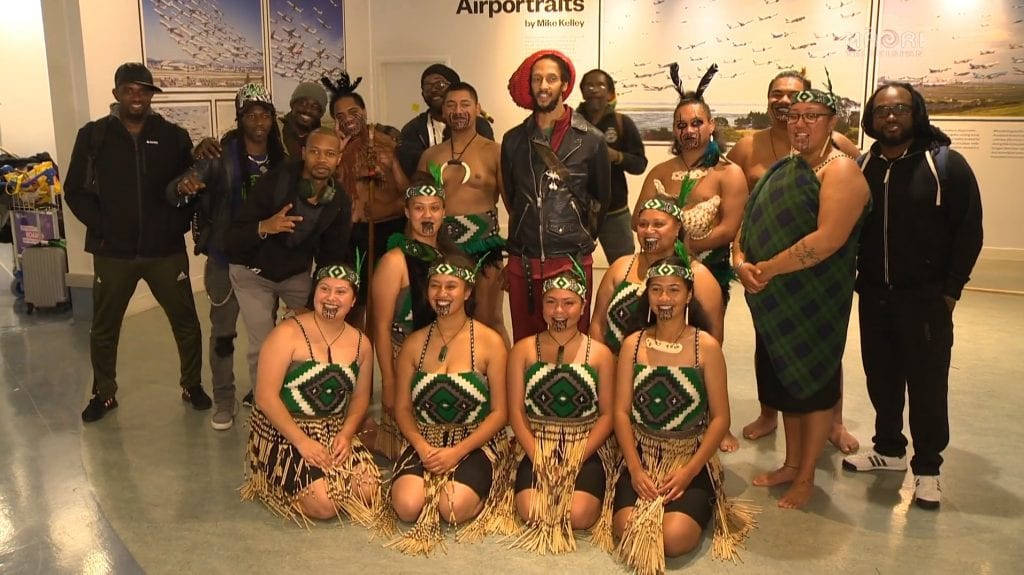 julian marley at Auckland airport